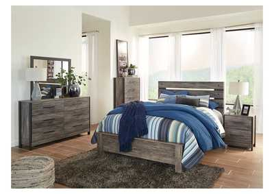 Cazenfeld Black/Gray Bedroom Dresser w/Mirror