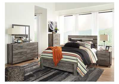 Image for Cazenfeld Black/Gray Queen Panel Bed w/Dresser and Mirror