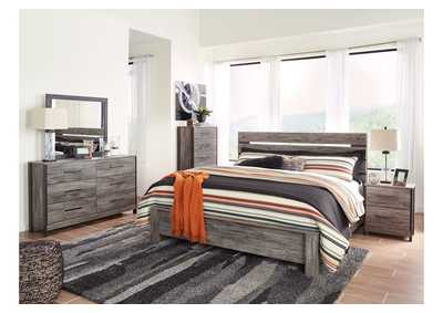 Image for Cazenfeld Black/Gray King Panel Bed w/Dresser and Mirror