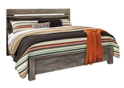 Cazenfeld Black/Gray King Panel Bed