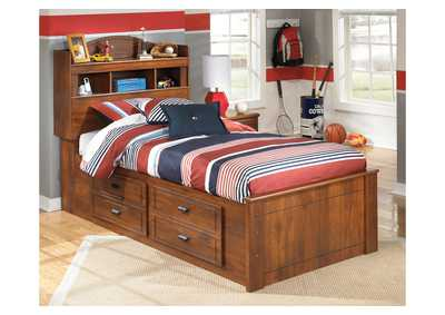 Barchan Twin Bookcase Bed w/ Storage