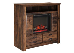 Quinden Media Chest w/ LED Fireplace Insert