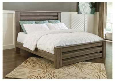 Zelen Warm Gray Full Panel Bed,Signature Design By Ashley
