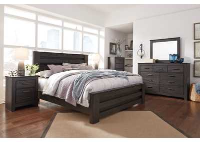 Brinxton Black Full Panel Bed and Dresser w/Mirror