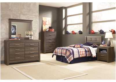 Juararo Twin Panel Headboard, Youth Dresser & Mirror