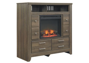Juararo Media Chest w/LED Fireplace Insert