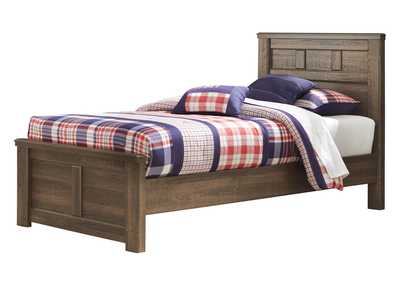 Juararo Brown Twin Panel Bed