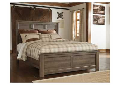 Juararo Brown Queen Panel Bed