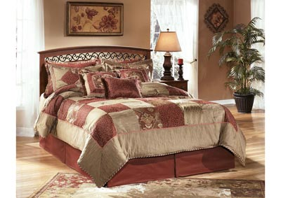 Timberline Warm Brown Queen/Full Panel Headboard