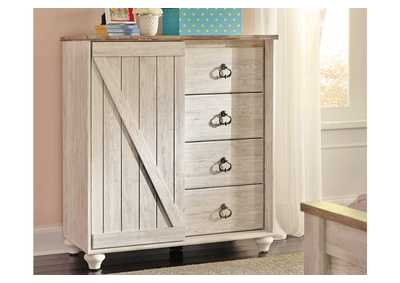 Willowton Whitewash Dressing Chest,Signature Design By Ashley
