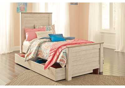 Willowton Whitewash Full Panel Storage Bed