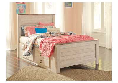 Image for Willowton Whitewash Full Storage Bed