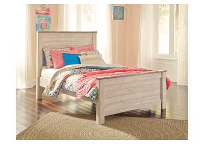 Willowton White Full Panel Bed