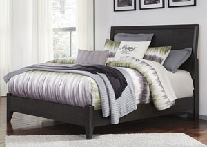 Daltori Black Queen Panel Bed