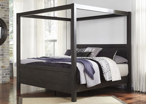 Daltori Black Queen Canopy Poster Bed