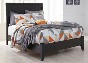 Daltori Black Full Panel Bed