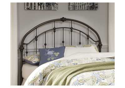 Bronze Finish Metal Queen Headboard