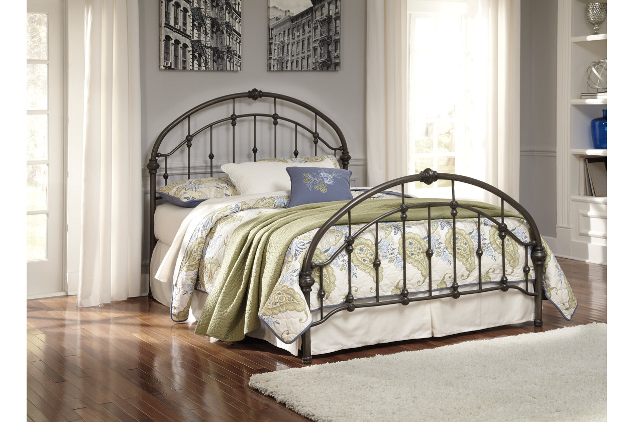 Bronze Finish Metal King Bed