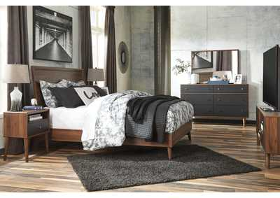 Daneston Brown/Graphite Bedroom Dresser w/Mirror