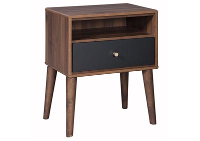 Daneston Brown/Graphite One Drawer Night Stand