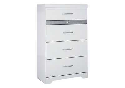 Image for Jallory White Chest of Drawer