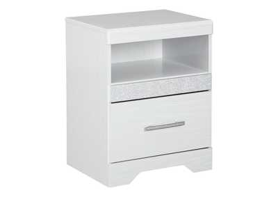Jallory White Nightstand
