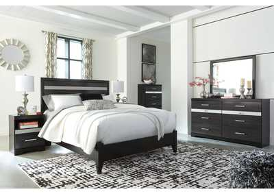 Starberry Black Queen Panel Bed and Dresser w/Mirror