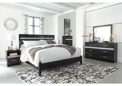 Starberry Black King Panel Bed and Dresser w/Mirror