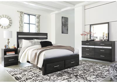 Image for Starberry Black Queen Storage Bed and Dresser w/Mirror