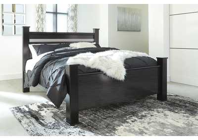 Starberry Black King Poster Bed,Signature Design By Ashley