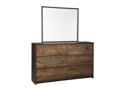 Windlore Dark Brown Bedroom Mirror
