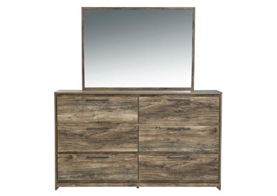 Rusthaven Brown Dresser and Mirror