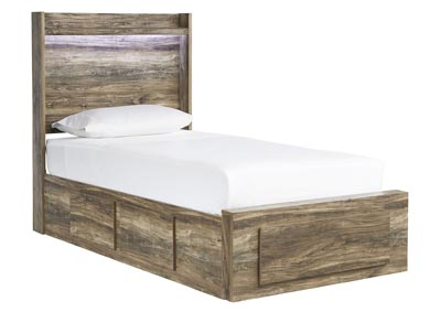 Rusthaven Brown Storage Twin Bed