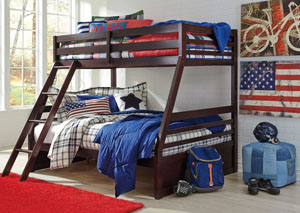 Image for Halanton Dark Brown Twin/Full Bunk Bed