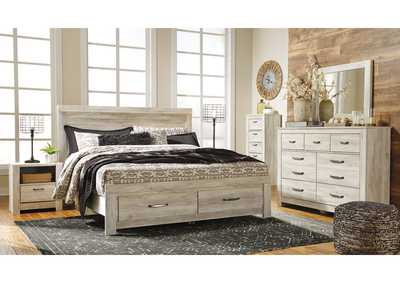 Bellaby Whitewash Bedroom Dresser w/Mirror