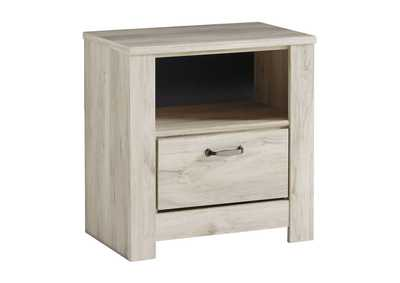 Bellaby Whitewash 1 Drawer Nightstand