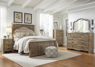 Shellington Caramel Bedroom Dresser w/Mirror
