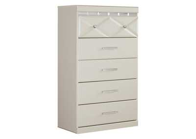 Image for Dreamur Champagne Five Drawer Chest