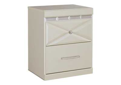 Image for Dreamur Champagne Two Drawer Night Stand