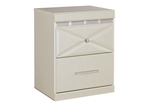 Dreamur Champagne 2 Drawer Nightstand