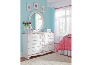 Korabella White Bedroom Mirror