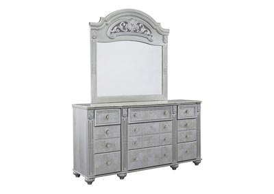 Zolena Silver Bedroom Mirror