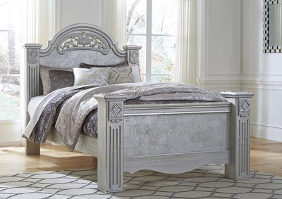 Zolena Silver Queen Poster Bed
