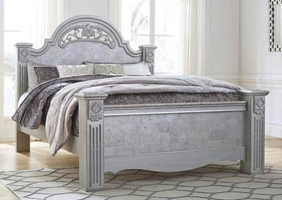 Zolena Silver King Poster Bed