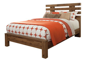 Cinrey Medium Brown Queen Panel Bed