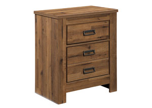 Cinrey Medium Brown 2 Drawer Nightstand