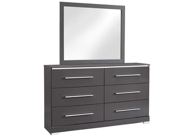 Steelson Gray Dresser w/Mirror