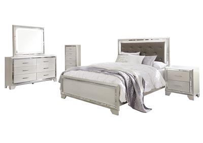 Lonnix Queen Panel Bed w/Dresser & Mirror