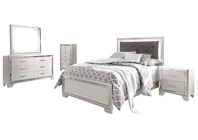 Image for Lonnix Full Panel Bed w/Dresser & Mirror