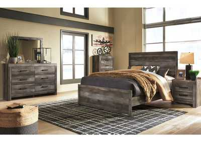 Wynnlow Gray Queen Panel Bed and Dresser w/Mirror